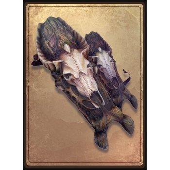Поножи с черепом козы / Goat Skull Greaves